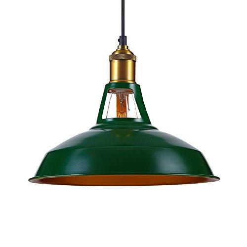 Kiven Industrial Barn Pendant Light Vintage Green Retro Hanging Light Warehouse Lighting Pendant Lighting For Kitchen Island 1