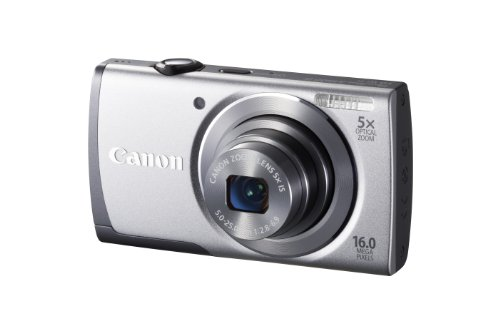 Canon PowerShot A3500 IS Digital Camera - Silver (16 MP, 28mm Wide Angle, 5x Optical Zoom) 3.0 inch LCD
