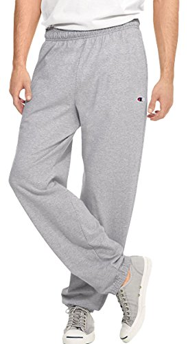 Champion Authentic Men's Closed Bottom Jersey Pants_Oxford Grey_Medium (Champion Compression Pants Women compare prices)