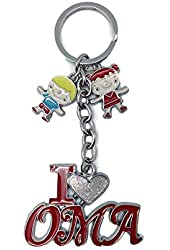 "German Oma Gift Idea Key Chain: ""I Love Oma"""