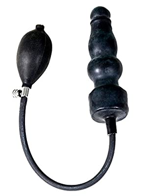 Raw Moulded Rubber Men's and Women's Dildo Easy to Pump Up Sex Toy in Black
