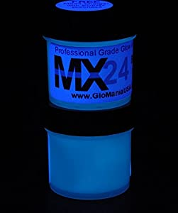 blue mx24 extreme glow in the dark paint daytime invisible range 4oz. Black Bedroom Furniture Sets. Home Design Ideas