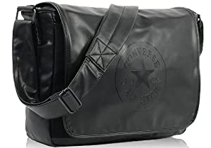 Converse Bags Coated Canvas Shoulder Flap Bag Black 110