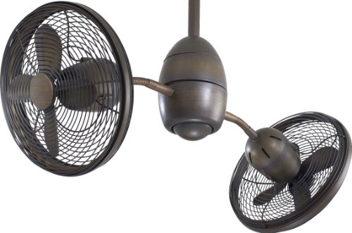 Minka-Aire F302-RRB Minka Aire Dual Motor Ceiling Fan, Restoration Bronze (Gyro Ceiling Fan compare prices)