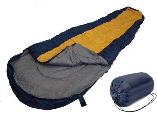 Sleeping BAG Mummy Type 8' Foot Blue Yellow/Orange 20 ...