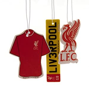 Official Liverpool FC Car Air Freshener (3 Pack) - A Great Gift / Present For Men, Sons, Husbands, Dads, Boyfriends For Christmas, Birthdays, Fathers Day, Valentines Day, Anniversaries Or Just As A Treat For Any Avid Football Fan