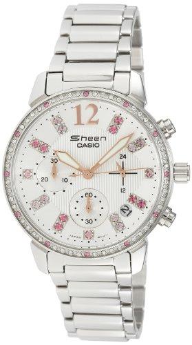 Casio Women's SHN5013D-7A Sheen white Watch