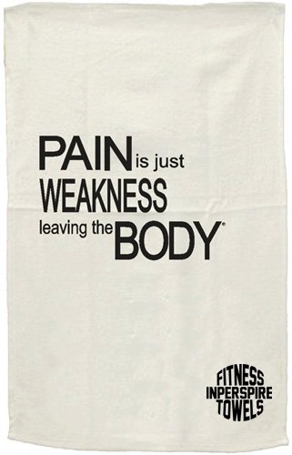 Motivational Gym Towel - Pain Is Just Weakness Leaving The Body