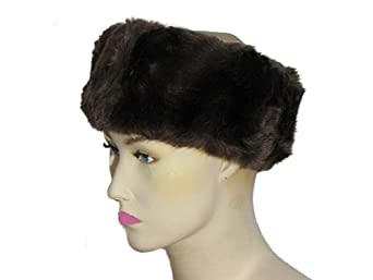Womens Faux Fur Head Band Ladies Ski Headband Earwarmers Super Quality Brown