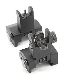 Zengi AR15 Front and Rear Flip up Iron Sights, Back-up Iron Sights B.I.U.S by Zengi