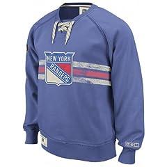 New York Rangers Team Classics Hockey Fleece Crewneck Sweatshirt by Reebok