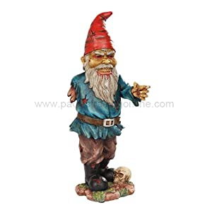 "Zombie Garden Gnome 12"" Tall Sculpture Outdoors Figurine by Pacific Giftware"