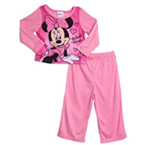 """Minnie Mouse """"Sleeping Hearts"""" 2-Piece Pajamas (Sizes 2T - 4T) - pink, 4t"""