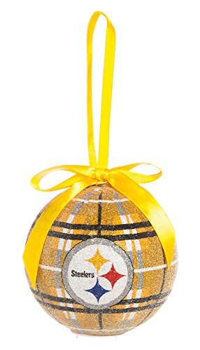 100Mm Led Ball Ornament, Pittsburgh Steelers