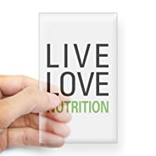 buy Cafepress Live Love Nutrition Rectangle Sticker Sticker Rectangle - 3X5 Clear