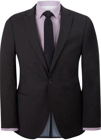 Austin Reed Slim Fit Dark Charcoal Suit Jacket LONG MENS 44
