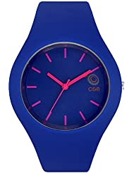 Chappin & Nellson Ladies Watch With Water Resistance Metal Blue Case With White Dial And Blue PU Band