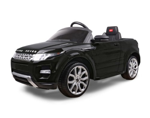 Licensed by Range Rover Kids Black Range Rover Evoque Ride On Car Toy With Remote Control