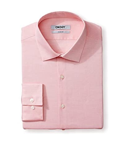 DKNY Grey Label Men's Slim Fit Solid Dress Shirt