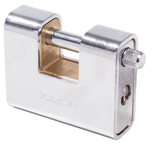 Master Lock 680EURD Lucchetto, Rettangolare, Zinco, Blindatura Acciaio Cementato, 90 mm