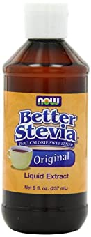 NOW Foods Better Stevia Original Liquid Extract, 8 Ounce Bottle