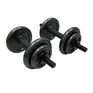 Adjustable Dumbbell Set 40 Pounds with Strength Flat Weight Bench