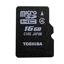 Toshiba MicroSDHC 16GB Class 4 Memory Card (Water Proof & X-Ray Proof)
