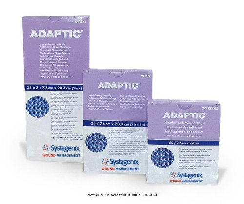 ADAPTIC® Non-adhering Dressing-Size: 3 x 8: Packaging: 3 Strips / Envelope - UOM = Each 1 exit wound