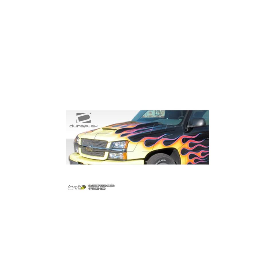 2002 2006 Chevrolet Avalanche (w / o cladding) 2003 2005 Silverado Duraflex Ram Air Hood   1 Piece