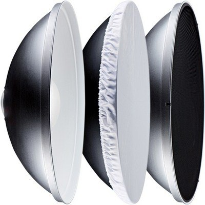 16in(41cm) Photography Beauty Dish With Honeycomb & White Diffuser - Bowen S Type Flash Head Fitting