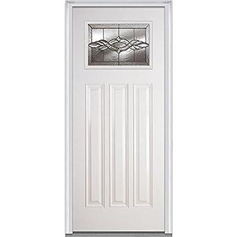 National Door Company EFS814BRZ30FSVLH Brentwood Decorative Glass 3 4 Lite 7