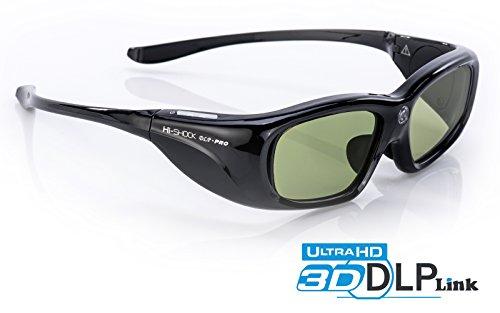 "Hi-SHOCK DLP Pro ""Black Space"" | DLP-Link 3D Glasses for Acer, BenQ, Optoma, Viewsonic, Screeneo, Infocus, NEC, Jmgo, Vivitek | E4W / D5 / ZD301 / PGD-350 / PPA5610 / X103 / NP02GL / HGL1 / YA-G30"