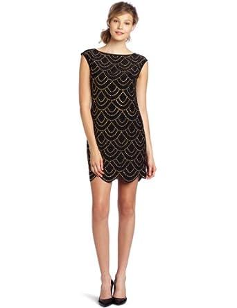 Trina Turk Women's Rindra Short Sleeve Dress, Black, 0,