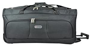 5 Cities 33 Extra Large Black Ripstop Material Wheeled Holdall Trolley Bag Only 325kg And 115l Capacity