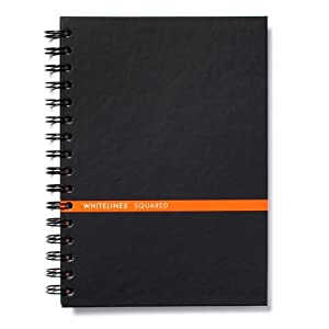 Whitelines Hard Wire Notebook A5, Squared, Black (WL69 HWBA5S)