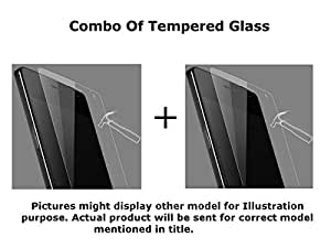 INFINITO (TM) 2.5D Curved Edges 9H Hardness Premium Tempered Glass Combo (Set Of Two Tempered Glass) For Samsung Galaxy S5 SM-G900