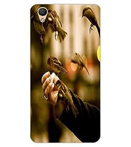 ColourCraft Sparrow Birds Design Back Case Cover for OPPO F1 PLUS