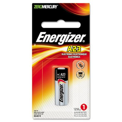 Energizer Watch/Electronic Battery, Alkaline, A23, 12V, MercFree accell 23a 12v disposable alkaline battery golden white 5 pcs