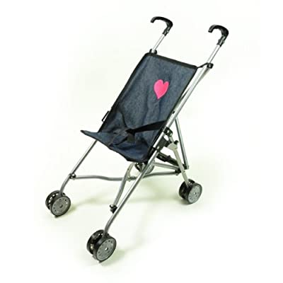 My First Umbrella Doll Stroller in Denim for Toddler from The New York Doll Collection