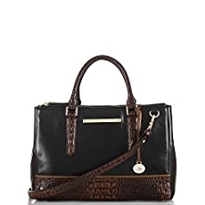 Small Lincoln Satchel<br>Black Tuscan Tri-Texture