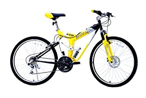 "TITAN Glacier Dual Suspension All-Terrain Mountain Bicycle - 26"" Alloy Wheels - 21-Speed - Shimano - Unisex 19"" Frame - Trail Bike - Disc Brake"