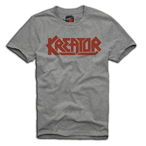 E1SYNDICATE KREATOR T-SHIRT GERMAN THRASH METAL SLAYER PANTERA S/M/L/XL GREY