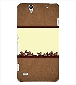 PrintDhaba Coffee Beans D-4320 Back Case Cover for SONY XPERIA C4 (Multi-Coloured)