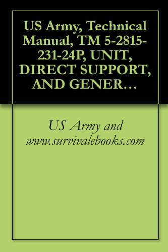 Us Army, Technical Manual, Tm 5-2815-231-24P, Unit, Direct Support, And General Support Maintenance Repair Pa And Special Tools List For Engine, Diesel, ... And Gunderson Models (Nsn 2815-01-018-0637)