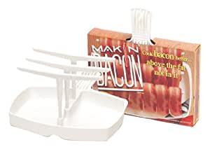 Microwave Bacon Cooker - The Original Makin' Bacon Microwave Bacon Rack - Reduces Fat up to 35%