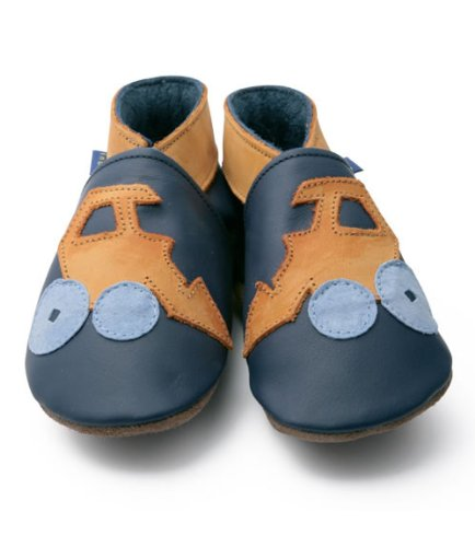 Inch Blue Digger Navy/Orange soft shoe, Soft shoes, Babies, 6-12 months