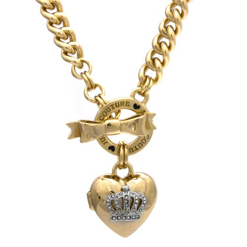 Juicy CoutureJuicy Couture Bow Toggle Heart Necklace, Gold