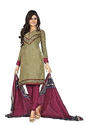 Khushbu Textile Women's Cotton Unstitched Salwar Suit (9015_Multicolor_Free Size)