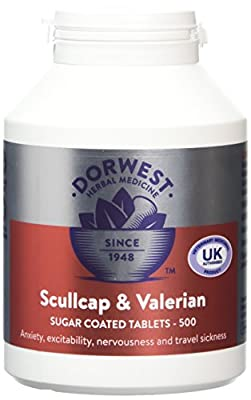 Dorwest Herbs Scullcap and Valerian Tablets for Dogs and Cats