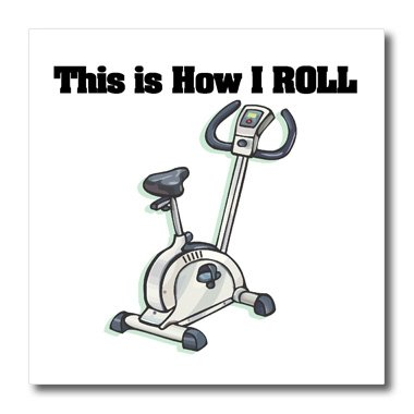 Dooni Designs Funny and Humorous Designs - This Is How I Roll Exercise Bike Exercising Design - Iron on Heat Transfers